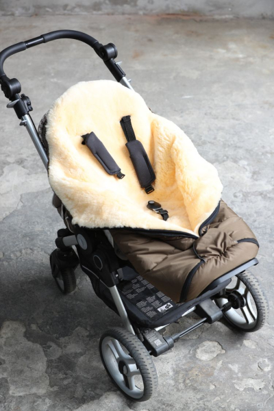 Baby- Kinderwagenfußsack (Braun, Anthrazit oder Schwarz)
