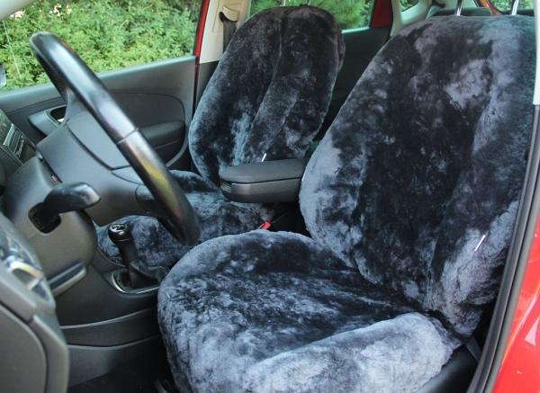 Autofell für Autositze mit Airbag im Sitz  Farbe antrazit