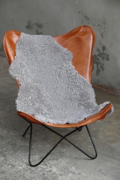 Lammfell curly platin geschoren gelockt braun grau