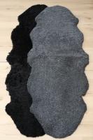 2er Lammfell grau geschoren gelockt curly