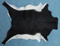 Ziegenfell Schwarz mit hellem Bauch