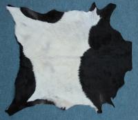 Ziegenfell Schwarz-Weiß