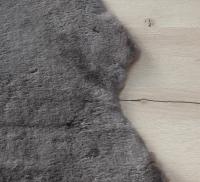 Lammfell Stone (braun, grau, geschoren)
