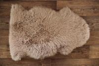 Lammfell beige braun (Silberquarz)