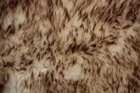 Lammfell (Weiß mit hell brauner Spitze)