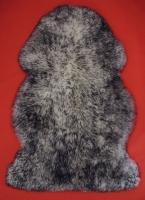 Lammfell (Weiß mit Schwarzer Spitze)