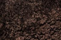 Lammfell curly braun geschoren gelockt