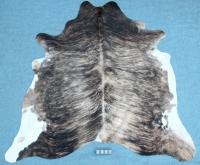 Kuhfell Schwarz Braun Weiß getigert (2397)