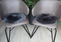 Lammfell Sitzauflage Rund -verschiedene Farben-