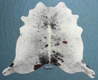 Kuhfell Schwarz Braun Weiß gespenkelt (3247)