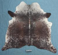 Kuhfell Schwarz Braun Weiß Gesprenkelt (2412)