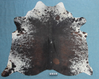 Kuhfell Schwarz Braun Weiß Grau Gesprenkelt (2418)