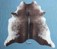 Kuhfell Schwarz Braun Weiß Gesprenkelt (2430)