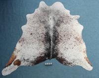 Kuhfell Schwarz Braun Weiß Gesprenkelt (2423)