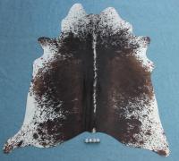 Kuhfell Schwarz Braun Weiß Gesprenkelt (2439)