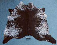 Kuhfell Schwarz Braun Weiß Gesprenkelt (2481)