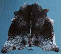 Kuhfell Schwarz Braun Weiß Gesprenkelt (2482)