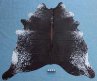 Kuhfell Schwarz Braun Weiß Gesprenkelt (2451)