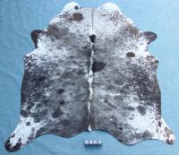 Kuhfell Schwarz Grau Braun Weiß Gesprenkelt (2463)