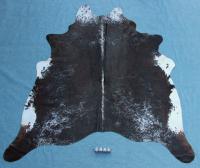 Kuhfell Schwarz Braun Weiß Gesprenkelt (2445)