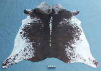 Kuhfell Schwarz Braun Weiß Gesprenkelt (2453)