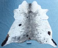 Kuhfell Schwarz Grau Weiß Braun Gesprenkelt (2466)