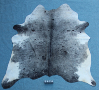 Kuhfell Schwarz Grau Weiß Gesprenkelt (2474)