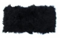 Tibet Lammfell Decke schwarz