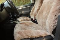 Autofell für Autositze mit Airbag im Sitz Sand (Beige)