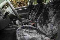 Autofell für Mittelklasse Wagen mit Airbag im Sitz (Anthrazit)